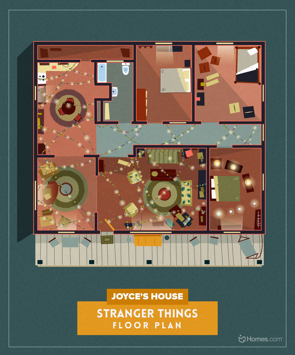 Floor Plans Of Popular TV Show Homes - Stranger Things