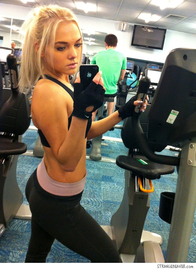 cute girl in the gym