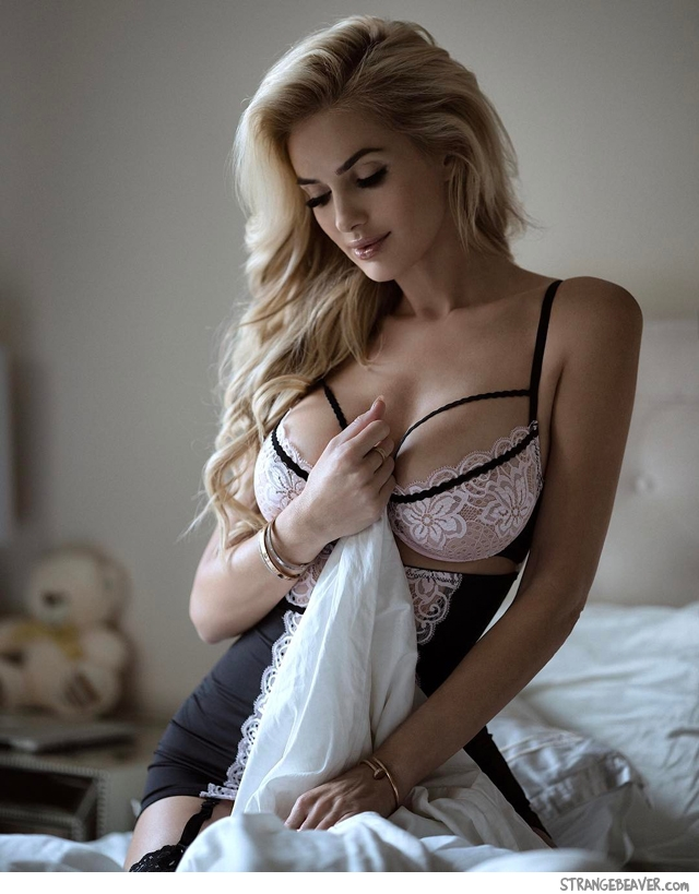 Beautiful girl in lingerie