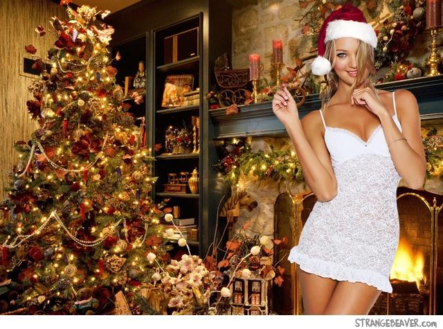 cute sexy christmas girl