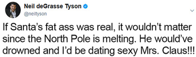 Festive Christmas Tweets From Neil deGrasse Tyson