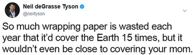 Festive Christmas Tweets From Neil deGrasse Tyson