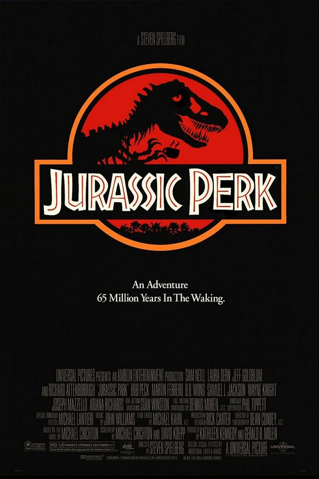 Jurassic Perk movie poster