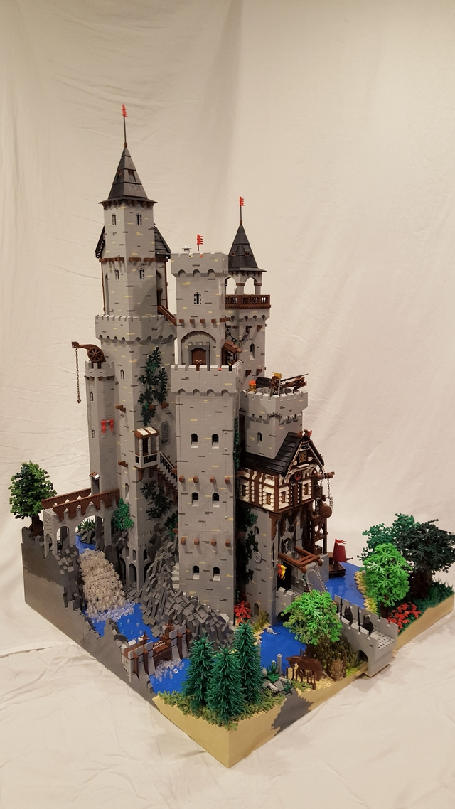 Amazing Springwood Castle Made Entirely Out Of Lego